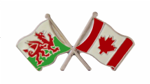 Canada and Wales Friendship Flag Pin Badge